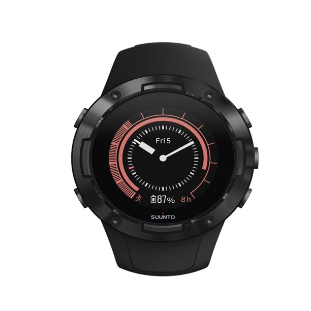 Suunto 5 Multisport GPS Watch with Wrist-Based Heart Rate Sensor All Black
