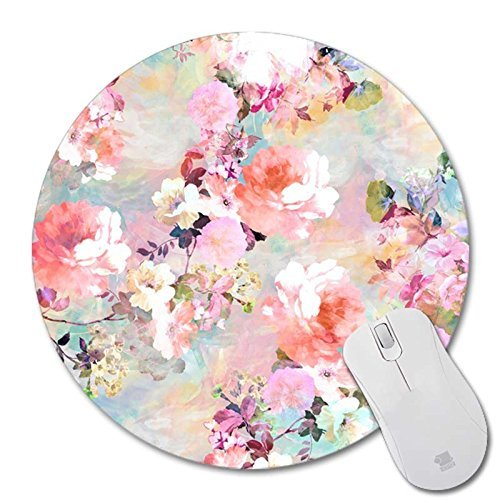 POPCreation Colorful Flower design Mouse pads Gaming Mouse Pad 9.84x7.87 inches