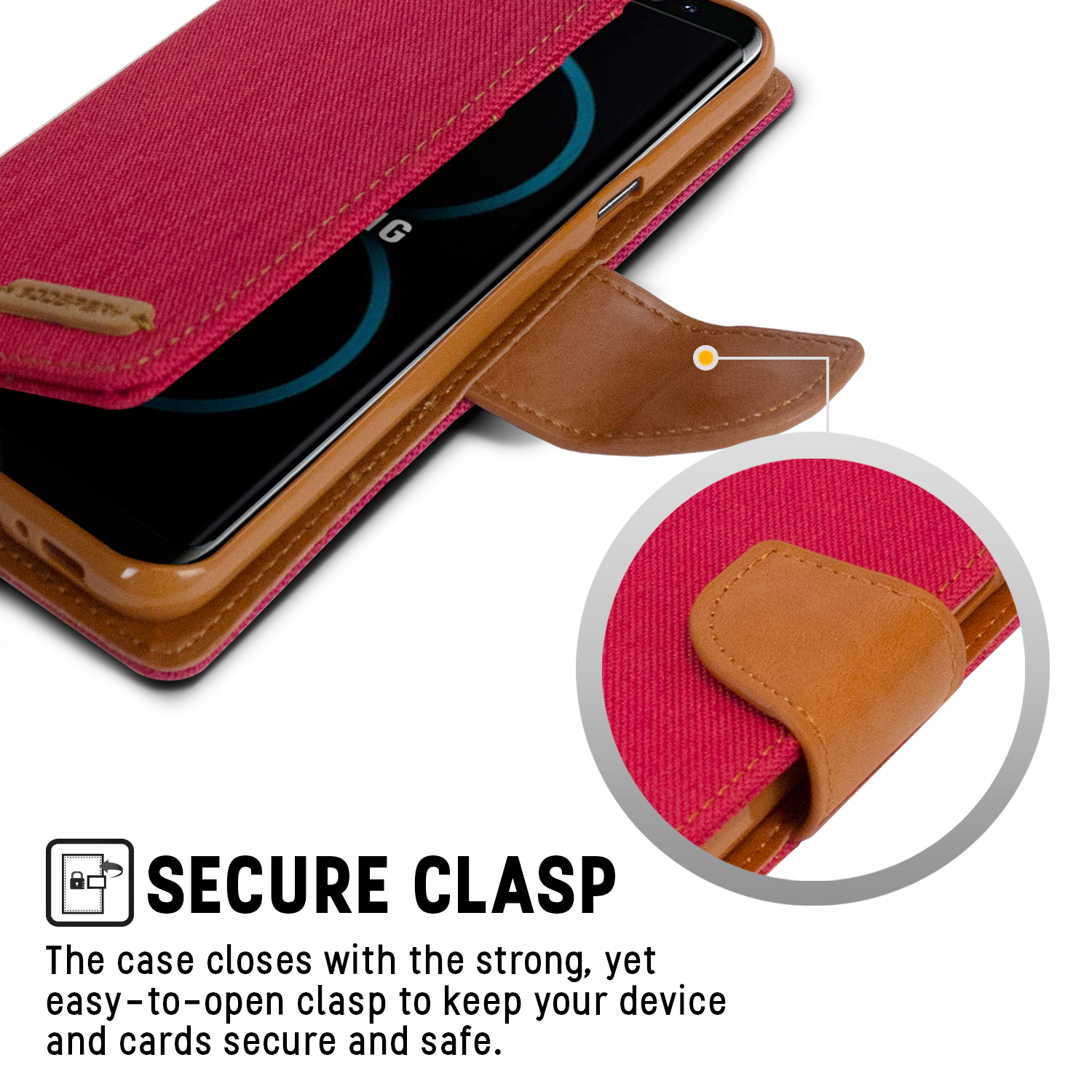 Galaxy S8 Plus Case Drop Protection Goospery Canvas Diary Samsung S6 Red Denim Material Wallet Id Card Cash Slot With Stand Flip Cover W Tpu