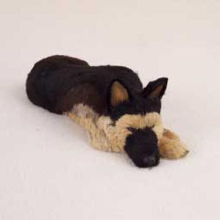 DFFL08A CON German Shepherd Tan & Black My Dog Fur Figurine