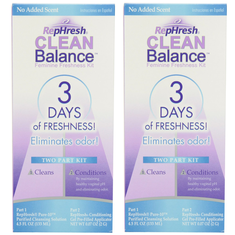 2 Pack RepHresh Clean Balance Feminine Freshness Kit 1 Each