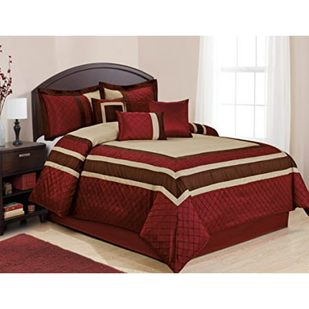 7 piece mya red bed in a bag clearance bedding comforter set fade resistant wrinkle free no. Black Bedroom Furniture Sets. Home Design Ideas
