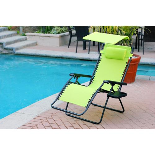 Porch & Den  Pinhook Lathrop Oversized Zero Gravity Chair with Sunshade and Drink Tray