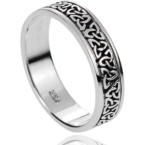 Brinley Co. Women's Sterling Silver Celtic Band, 6mm