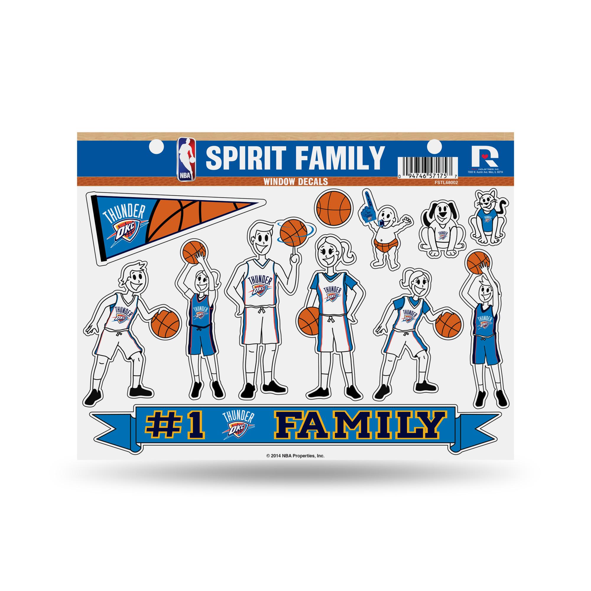 "NBA 11"" x 11"" Large Family Car Decal Sheet Celtics by Rico"