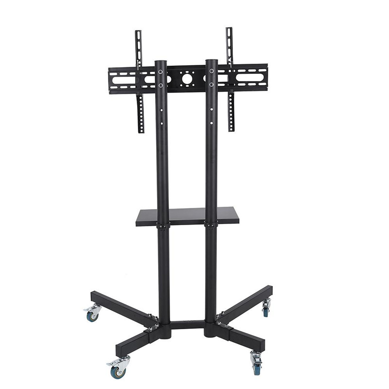 """Estink Mobile TV Stand Cart Flat Panel Screen with Wheels Adjustable Stand Mount fits 32-65"""" LCD LED Plasma Supports up to 240 lbs Black"""