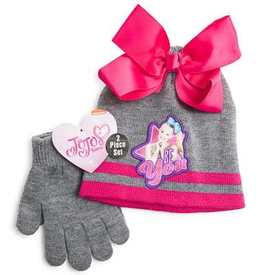 JoJo Siwa Be You Beanie Hat Glove Set - Walmart.com 3369eced342