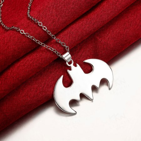 Women Summer Style Batman Silver Necklace Best Gift For Friends Steampunk