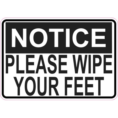 5x3.5 Notice Please Wipe Your Feet Magnet Magnetic Door Sign Magnets Wall Signs