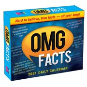 """2021 OMG Facts Boxed Daily Calendar by Spartz Media, 4.25""""x5.25"""""""