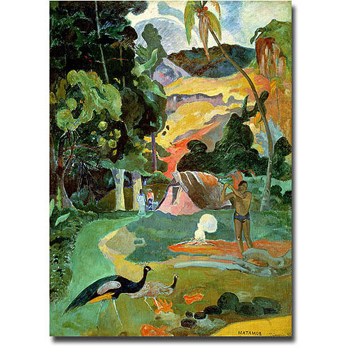"Trademark Fine Art ""Matamoe"" Canvas Wall Art by Paul Gauguin"