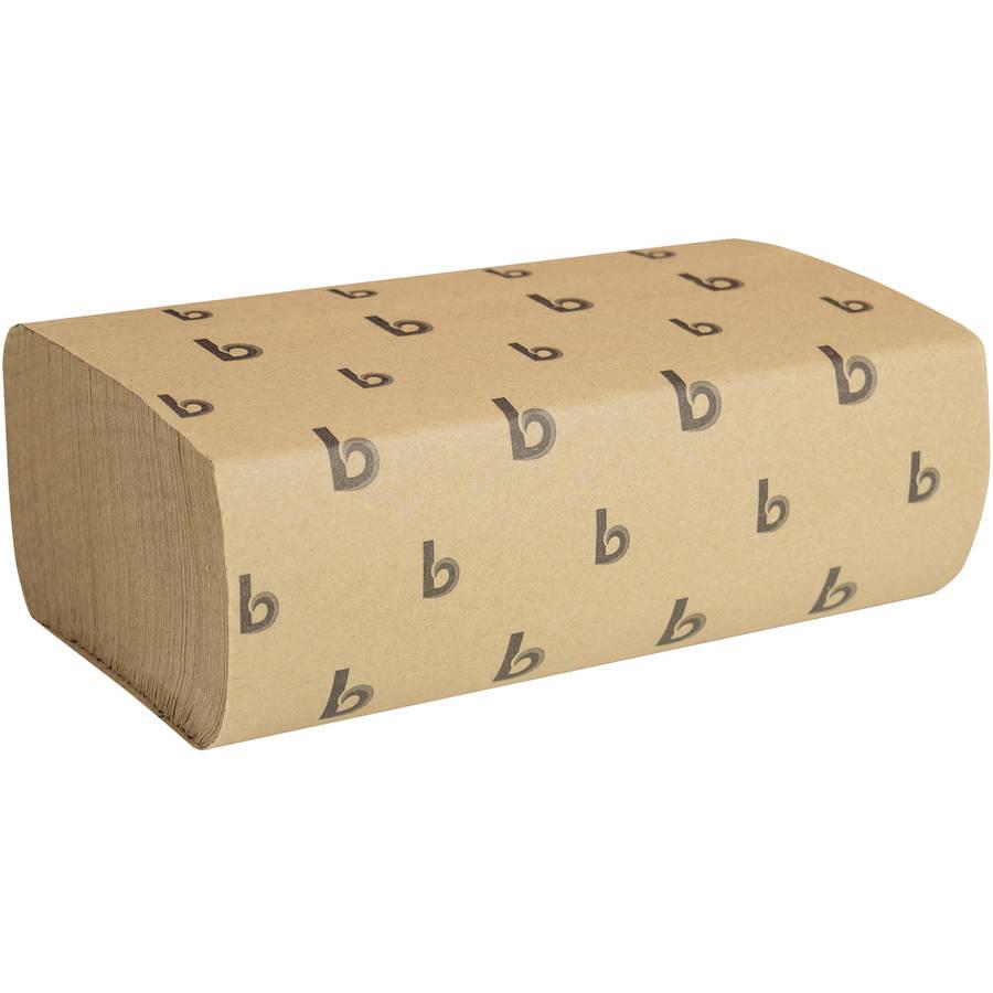 Boardwalk Multifold Natural Brown Paper Towels, 250 sheets, 16 ct