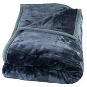 Somerset Home Soft Heavy Thick Plush Mink Blanket, 8 lbs, Full/Queen, Blue