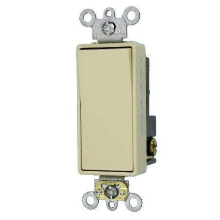 Rocker Switch Single Pole (Leviton 5621-2I Ivory Decora Plus Single Pole Rocker Light Switch 20A )