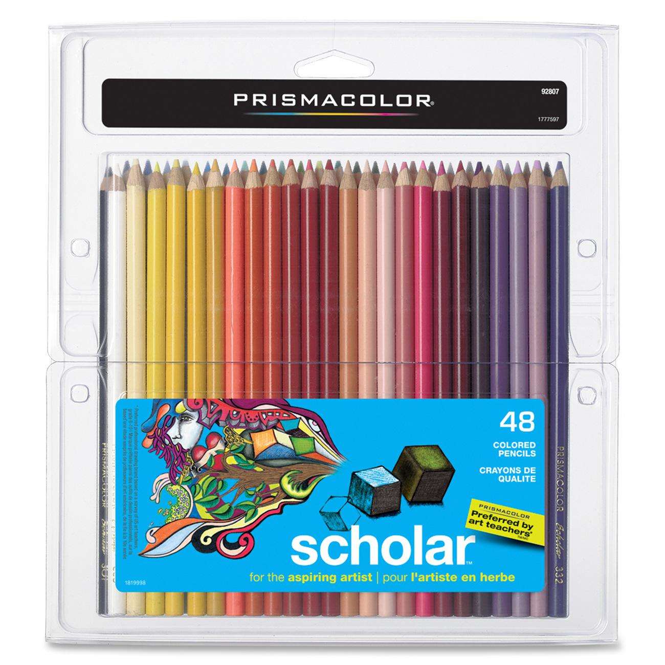Prismacolor Scholar Colored Pencil Set, 48 Colors