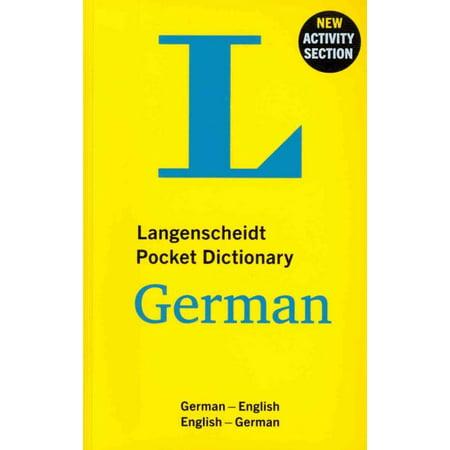 Langenscheidt Pocket Dictionary German