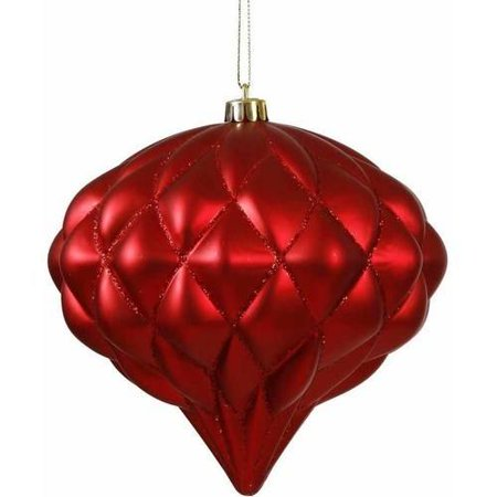 "Vickerman 5.7"" Matte/Glitter Diamond Onion Christmas Ornament"