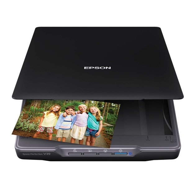 Epson Perfection V39 Color Photo and Document Scanner, Black