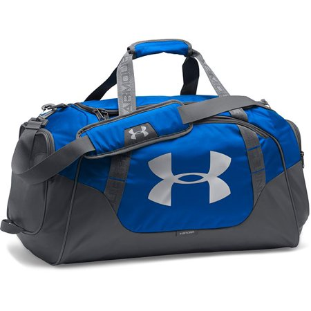 under armour undeniable duffle 3.0 gym bag, royal (400)/silver, (Under Armour Basketball Bag)