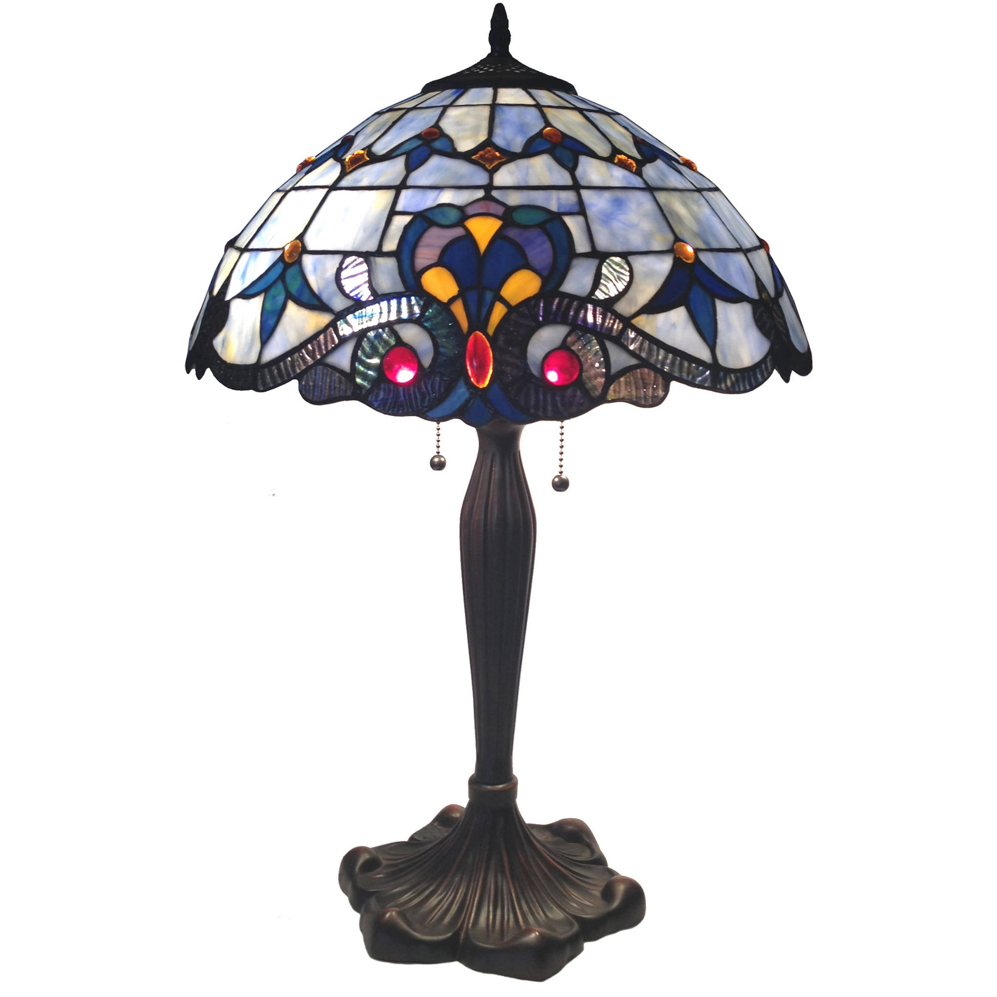 "Chloe Lighting Bavarian Tiffany-Style 2-Light Victorian Table Lamp with 16"" Shade by Chloe Lighting"