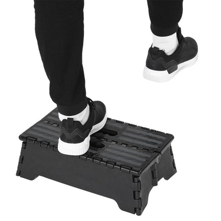 Yosoo Folding Step,Portable Folding Step Stool Black Step Ladder for Elderly Pregnant Bathroom Travel Use,Step Ladder