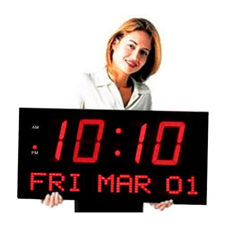 Big Time Clocks 7'' LED Digits Clock - Set Clocks Back Halloween