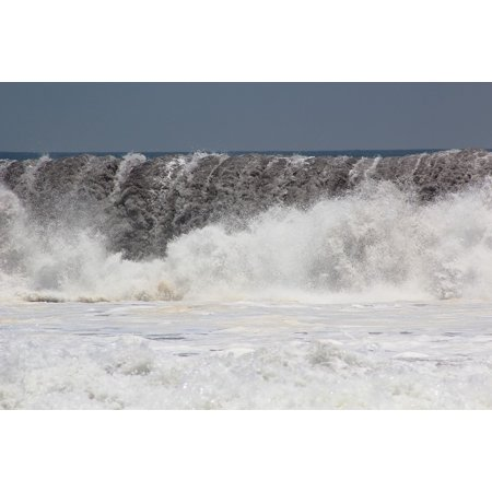 Canvas Print Wave Storm Water Beach Sea Costa Foam Ocean Stretched Canvas 10 x 14