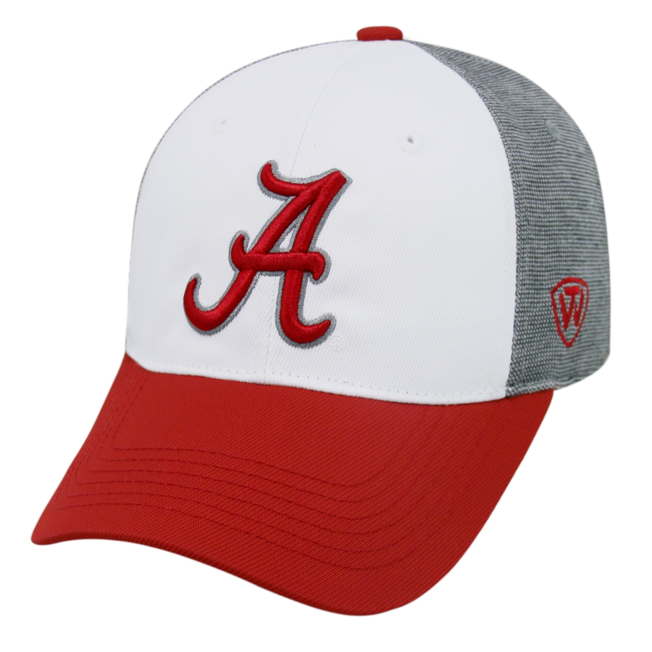 """Alabama Crimson Tide NCAA Top of the World """"Hustle"""" Stretch Fit Performance Hat"""