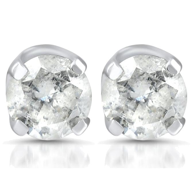 1/4ct Diamond Stud Earrings 14K White Gold