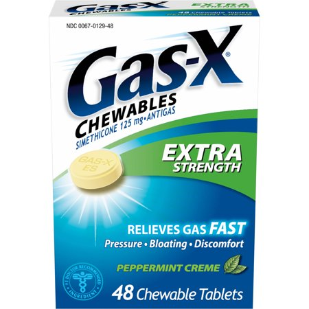 Gas X Chewables Extra Strength Gas Relief Peppermint Creme Chewable Tablets  48 Ct