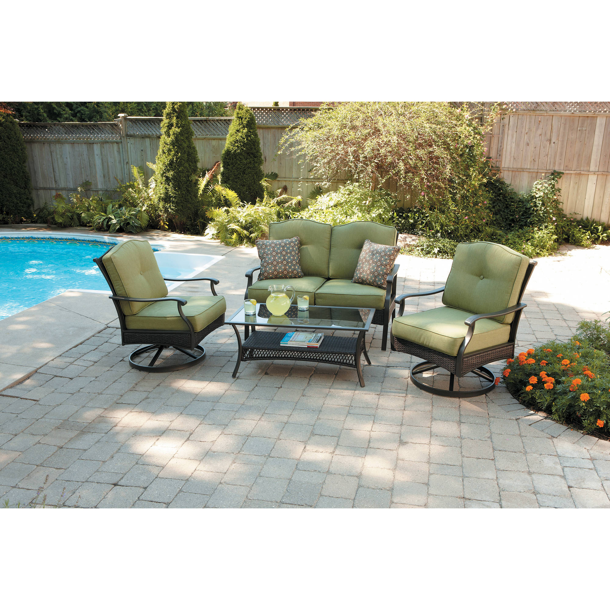 Good Better Homes And Gardens Providence 4 Piece Patio Conversation Set    Walmart.com