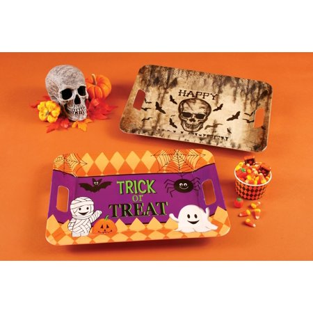 Fun World Large Trick or Treat Halloween Party Serving Platter, 15.5