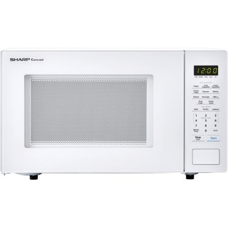 Sharp Carousel 1.1 Cu. Ft. Mid-Size Microwave White