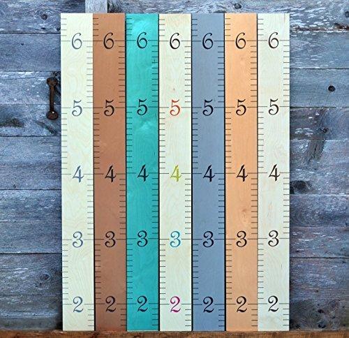 Growth Chart Art Wall Hanging Wooden Growth Chart Ruler f...