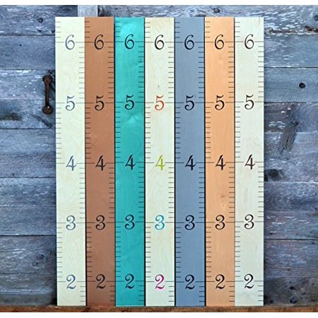 Growth Chart Art Wall Hanging Wooden Growth Chart Ruler For Kids