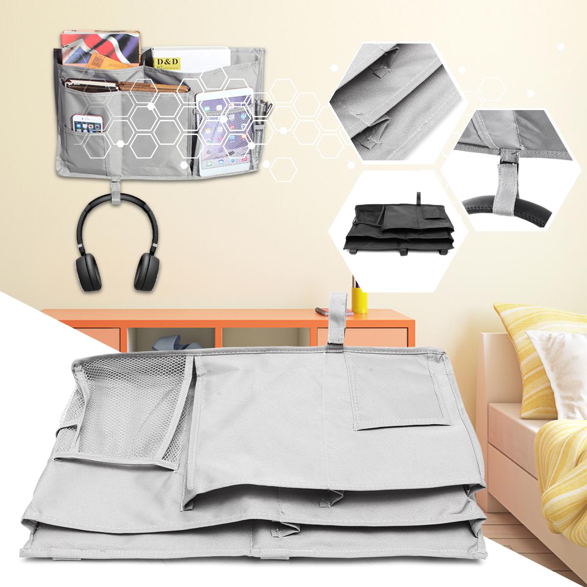50x30cm/ 19.69x11.81'' Bedside Hanging Storage Pocket Organizer Holder Cabin Chair Shelf Bunk Baby Home Decor Bed Storage Boxes