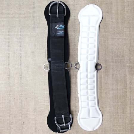 24 INCH WEAVER AIR FLEX STRAIGHT HORSE CINCH GIRTH BLACK ROLL SNUG BUCKLE
