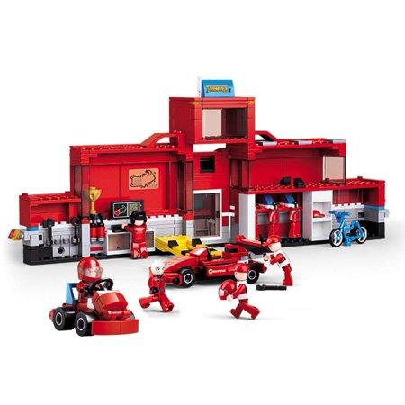 Sluban Formula One Racing Series Building Blocks Educational Bricks Toy Kit (557 Piece) - F1 Racing Set
