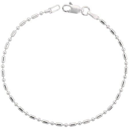 Sterling Silver Dots - Sterling Silver Dot Dash Pallini Bead Ball Chain 1.8mm Nickel free Italy, sizes 7 - 30 inch
