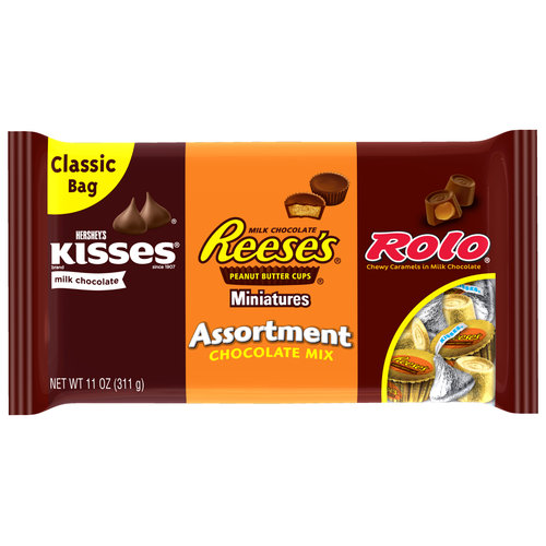 Kisses/Reese's/Rolo Chocolate Mix Candy Assortment, 11 oz