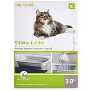 Sifting Cat Litter Box Liners, 30 CT, Sifting Cat Litter Box Liners from So Phresh By So Phresh