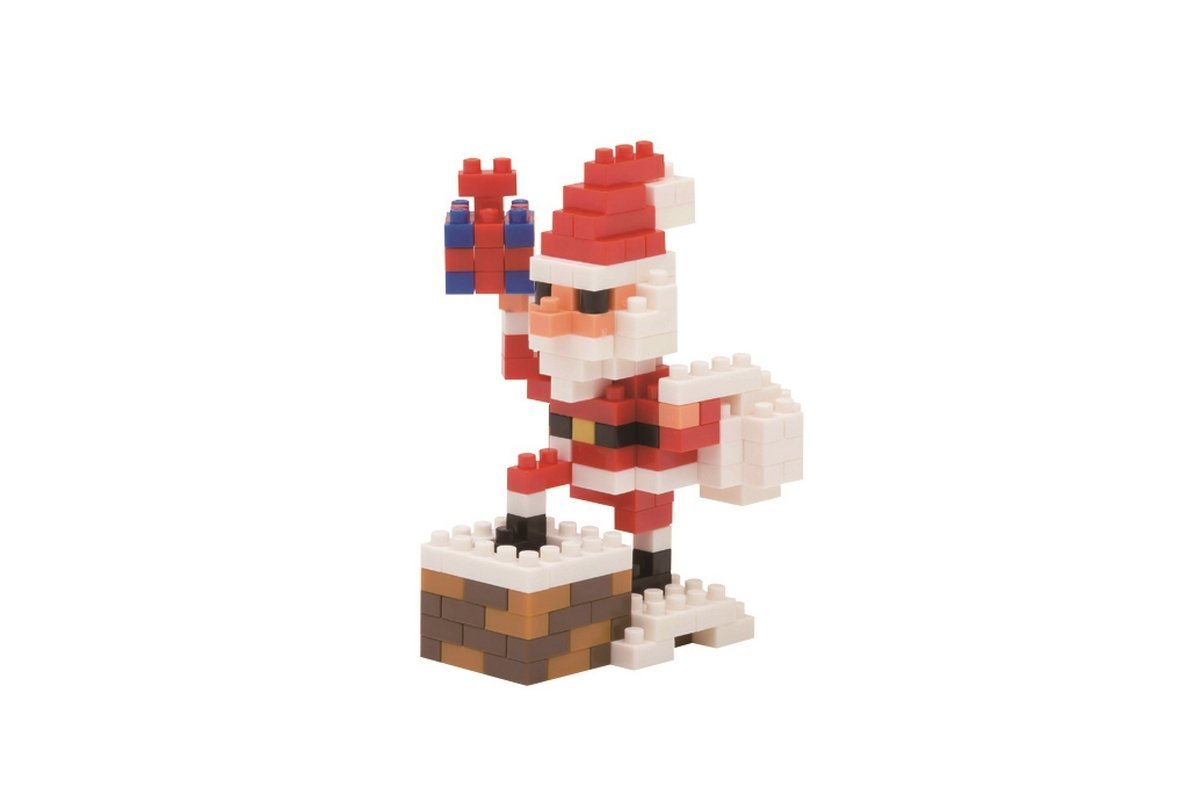 Santa Claus On The Chimney Building Kit, It's Christmas time and St. Nick is ready to come... by