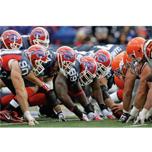NFL - Buffalo Bills-Browns Line of Scrimmage Mural Fathead