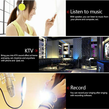 Wireless Bluetooth Karaoke Microphone with Controllable LED Lights, Portable Karaoke Machine Speaker Mother's Day Birthday Gift Party Travel Toy for Android/iPhone/iPad/Sony/PC