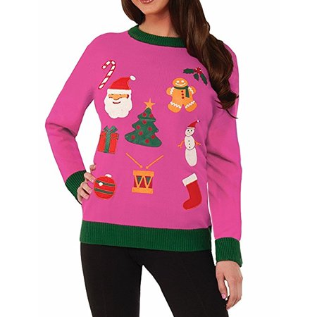 forum novelties everything christmas pink ugly christmas sweater - Pink Ugly Christmas Sweater
