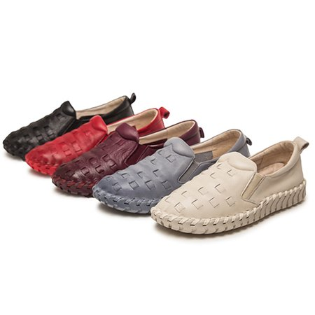 Women's Leather Loafers Slip-ons Boat Shoes ()
