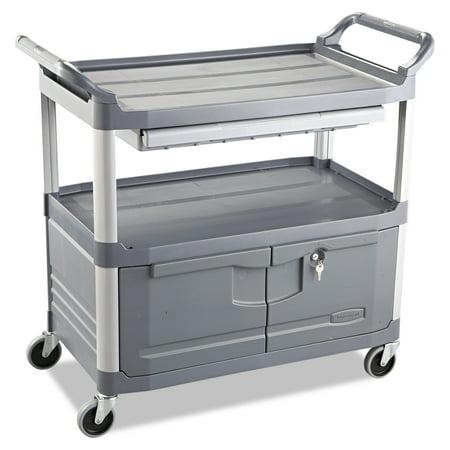 Rubbermaid Commercial Xtra Instrument Cart, 300-lb Cap, Three-Shelf, 20w x 40-5/8d x 37-4/5h, -
