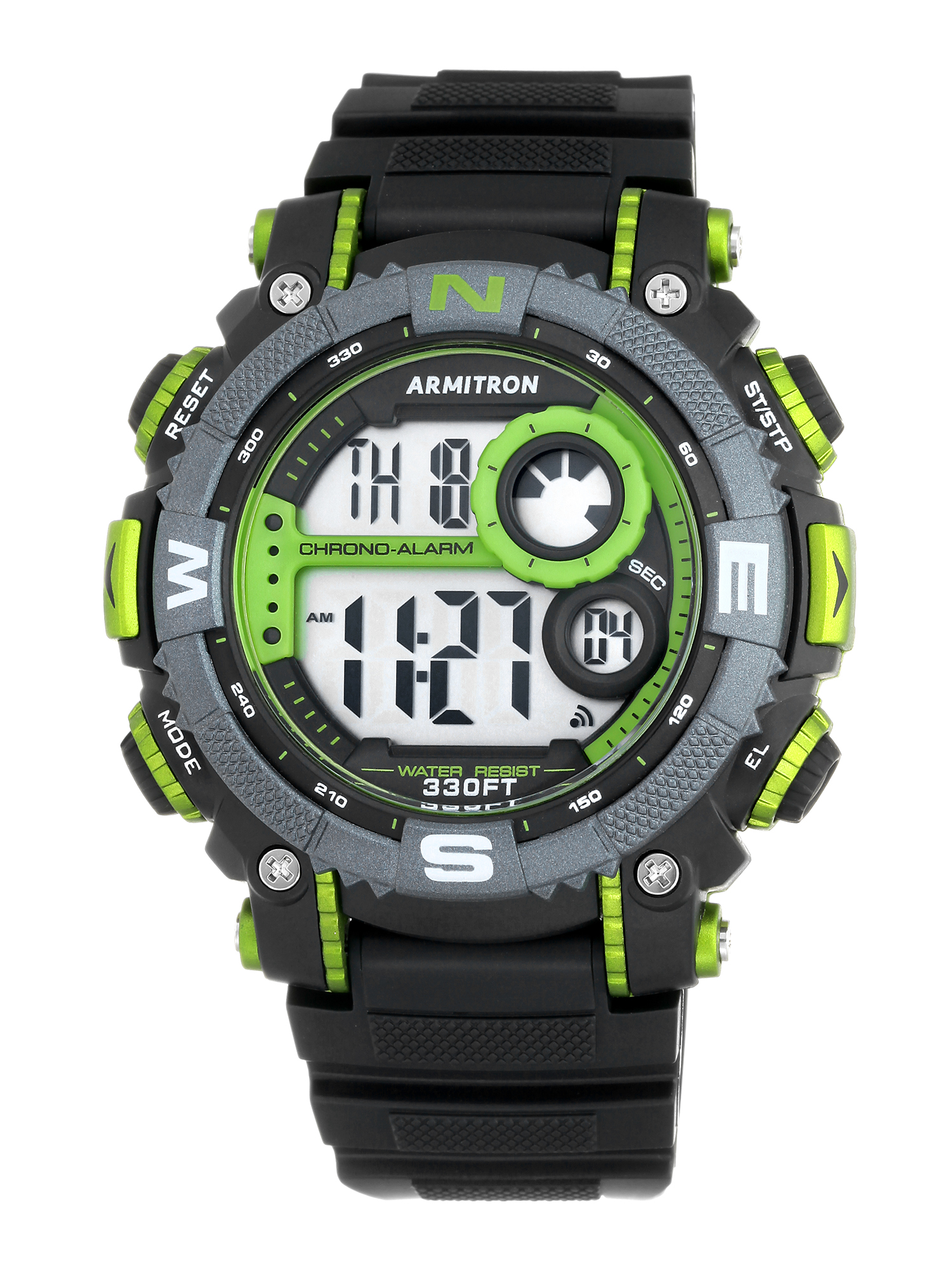 Men's Sport Green Countertop Watch, Resin Band