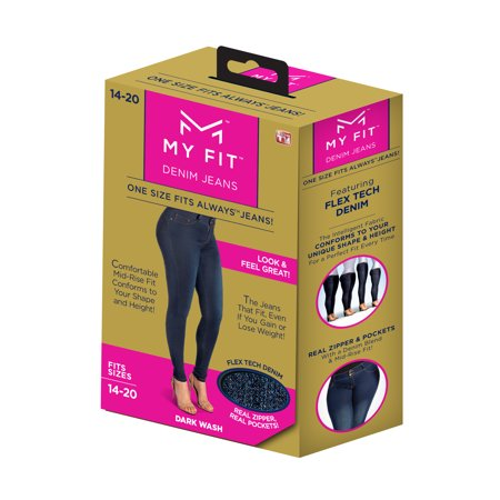 My Fit Jeans On-Trend Denim, Yoga Pant Comfort, Size 14-20 As Seen on TV