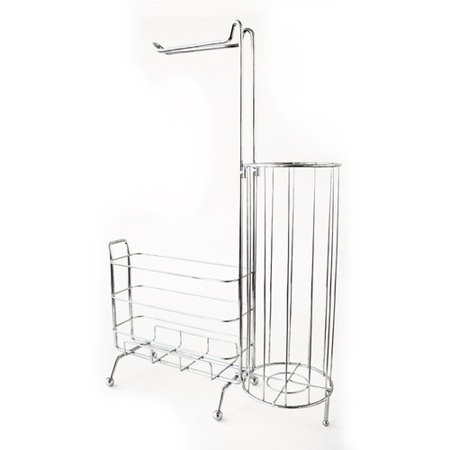 Splash Home Free Standing Toilet Paper Holder Plus A Storage For Books In The Bathroom - - Freestanding Toilet Roll Holders